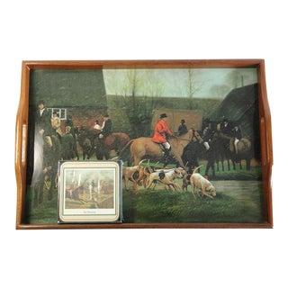 Fox Hunting Equestrian Coasters and Tray Set