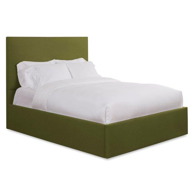 Modern Hadley Full/Double Bedframe, Olive Velvet For Sale - Image 3 of 4