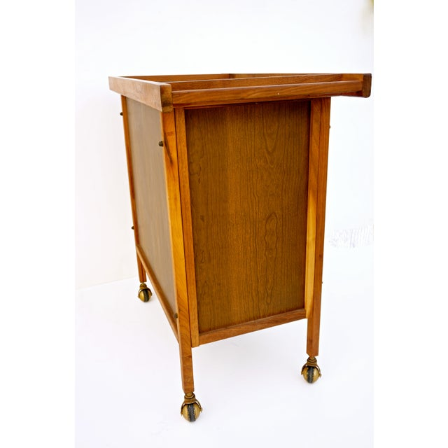 Mid-Century Danish Modern Teak Bar Cart - Image 10 of 11