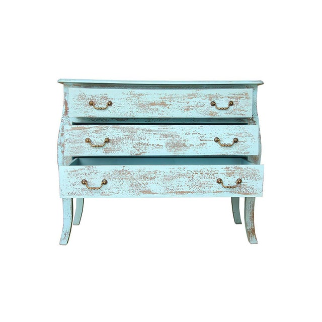 Rustic Rustic Gilbert Three Drawer Wooden Chest For Sale - Image 3 of 7