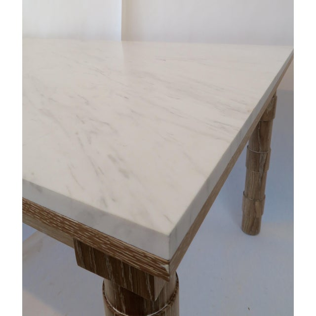 Martin & Brockett Cersued Oak & Marble Dining Table - Image 3 of 6