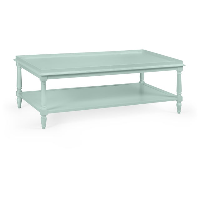 Transitional Casa Cosima Revere Cocktail Table, Palladian Blue For Sale - Image 3 of 3