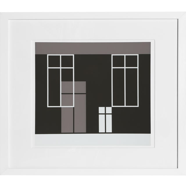 Josef Albers - Portfolio 1, Folder 21, Image 2 Framed Silkscreen For Sale