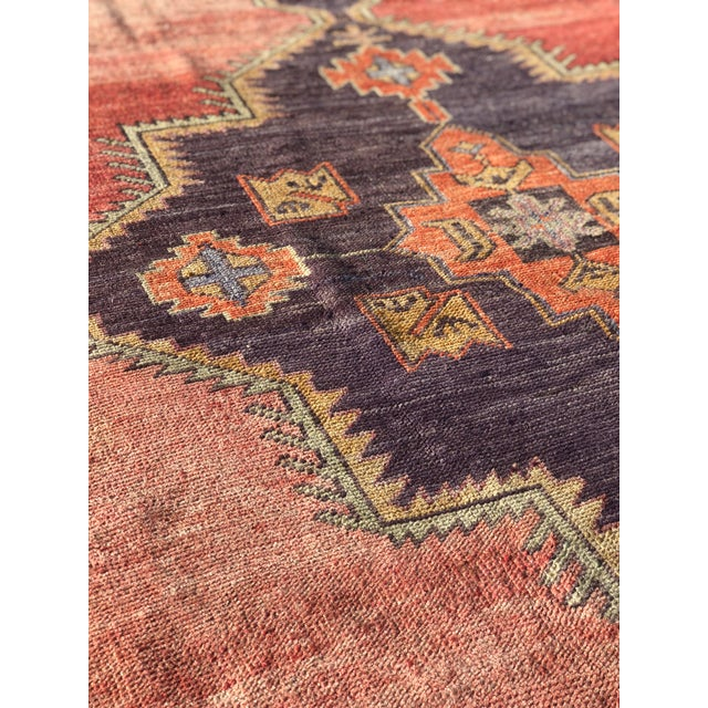 "Antique Turkish Oushak Runner - 5'1"" x 11'5"" - Image 5 of 12"
