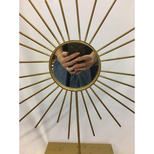 Vintage Gold Metal Starburst Vanity Mirror - Image 2 of 10