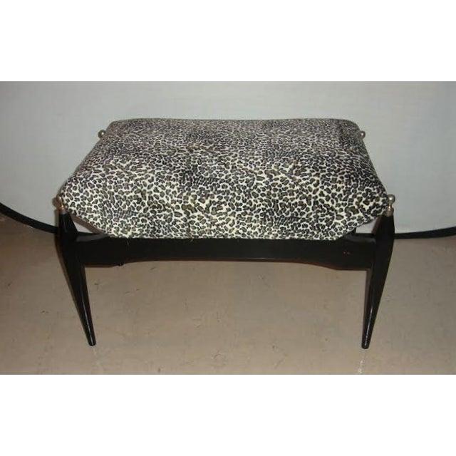 Leopard Print Upholstered Bench - Image 2 of 6