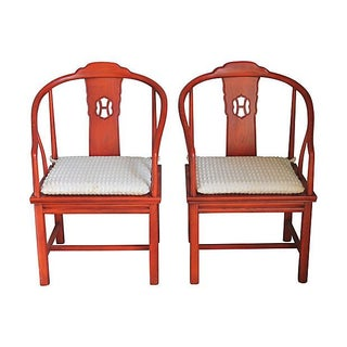 Henredon Chinoiserie Armchairs - A Pair For Sale