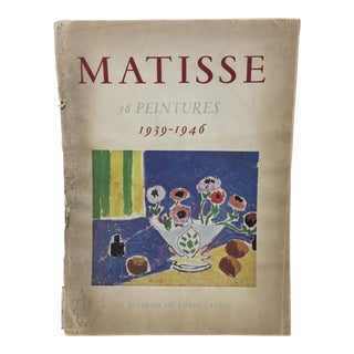 1943 Matisse Portfolio Lithographic Prints Book For Sale