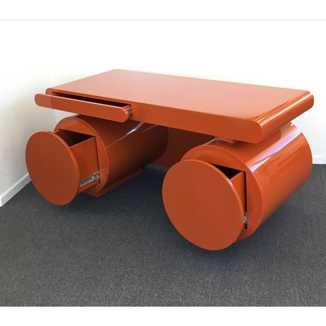 High Gloss Lacquered Scuptural Desk from the 1960s For Sale In Palm Springs - Image 6 of 9