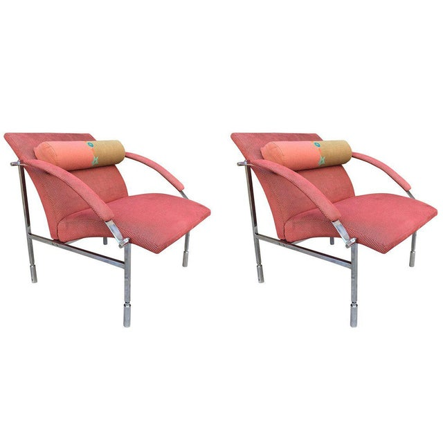 Pair of Saporiti Lounge Chairs For Sale In New York - Image 6 of 6