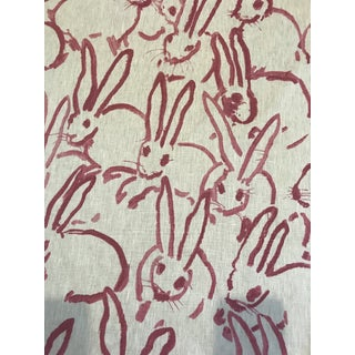 "Hunt Slonem for Groundworks ""Hutch"" Linen Fabric - 4 Yards For Sale"