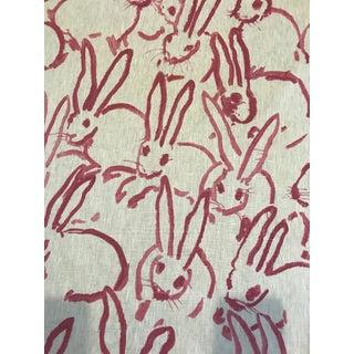 "Hunt Slonem for Groundworks ""Hutch"" Linen Fabric - 4 Yards For Sale"