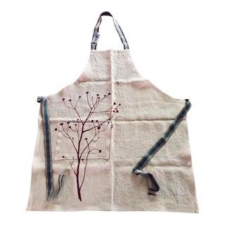 Linen Botanical Apron - Wine For Sale