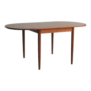Mid-Century Modern Rounded Edge Teak Dining Table For Sale