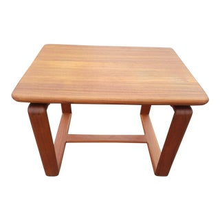 Gorgeous Solid Teak Mid Century Modern End Table