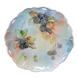 Handpainted Blackberry Plate