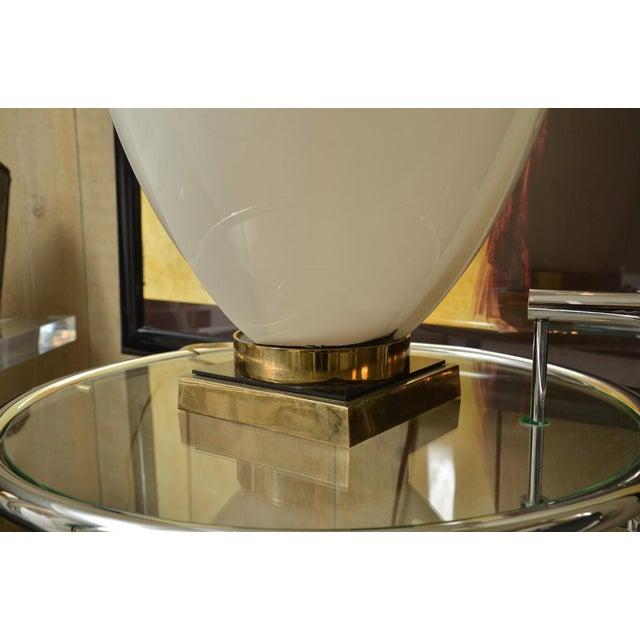 White Large Rougier Floriform Acrylic Lamp For Sale - Image 8 of 9