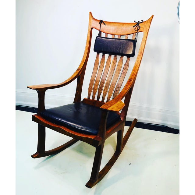 Exceptional and Monumental Rosewood Rocking Chair by Stephen O'Donnell For Sale - Image 11 of 11