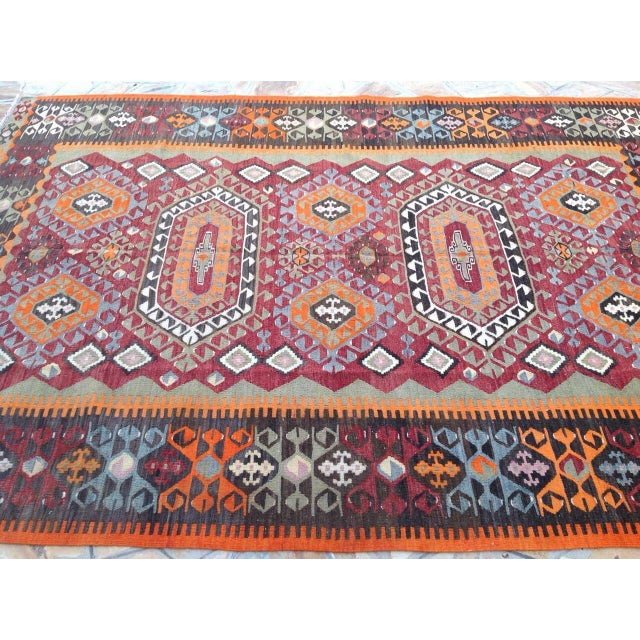 Vintage Turkish Kilim Rug - 6′10″ × 10′ - Image 4 of 7