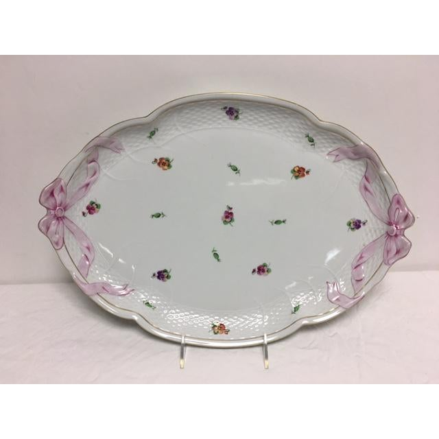 Herend Printemps Oval Ribbon Tray - Image 2 of 7
