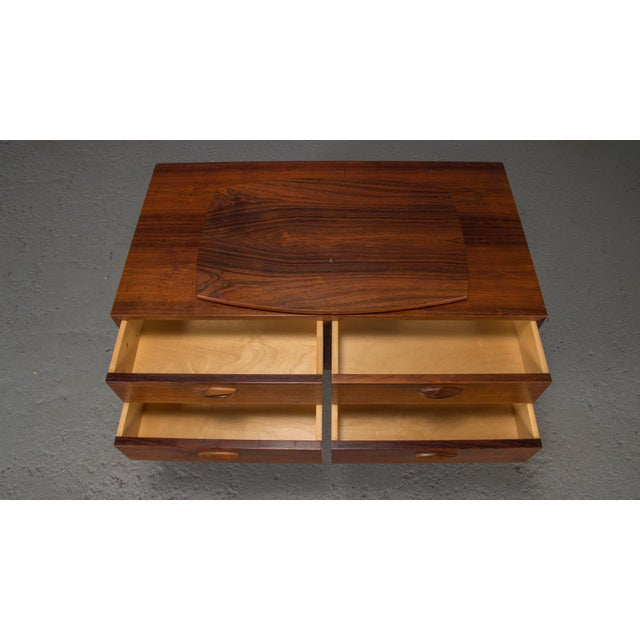 Wood 1950s Danish Modern Kai Kristiansen Rosewood Chest For Sale - Image 7 of 11