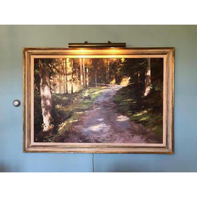 Green 21st Century Landscape by Famous British Painter James Hart Dyke For Sale - Image 8 of 13