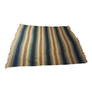 Handwoven Mexican Serape Throw