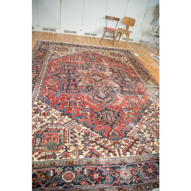 "Vintage Distressed Heriz Carpet - 8'11"" X 11'10"" - Image 5 of 10"