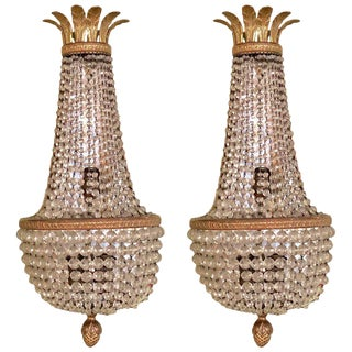 Pair of French Wall Sconces by Niermann Weeks For Sale