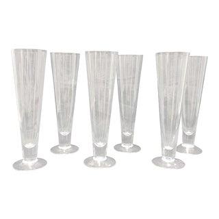 1960s Vintage Pilsner Glasses- Set of 6 For Sale