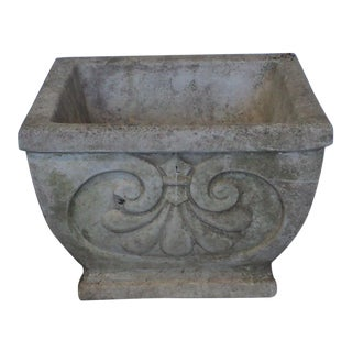 20th Century Neoclassical Concrete Outdoor Garden Planter For Sale