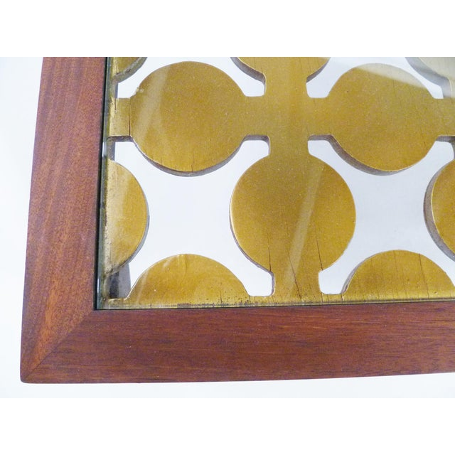 Parzinger Style Classy 50's Mahogany & Giltwood Grille Coffee Table - Image 12 of 13
