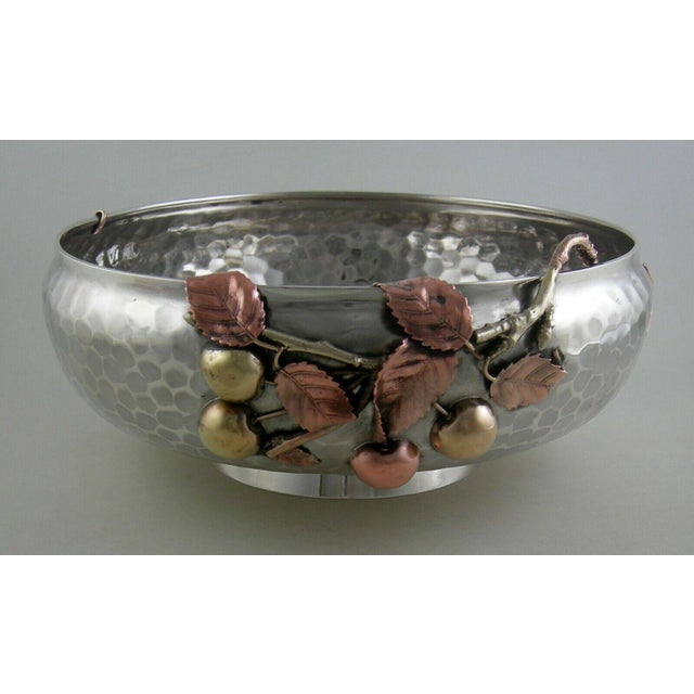 Silver Sterling Gorham Mixed Metal Footed Bowl For Sale - Image 8 of 8