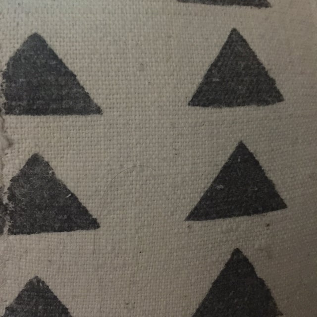Mali Mudcloth Pillow, Triange, 18x18 - Image 3 of 5