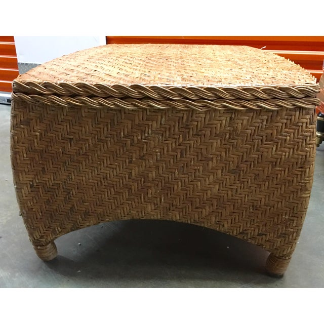 Wicker Center Table/Trunk with Storage - Image 7 of 7