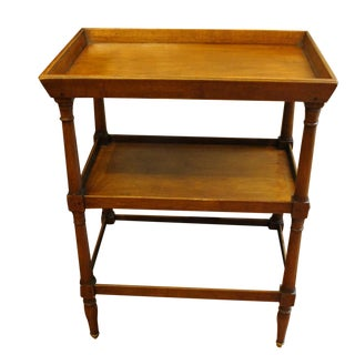 Country French 3-Tier Galleried Table For Sale