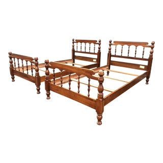 Solid Cherry Twin Beds- a Pair For Sale