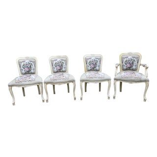 French Provincial Chairs - Set of 4 For Sale