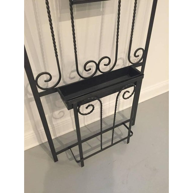 Art Deco French Art Deco Wrought Iron Hall Tree For Sale - Image 3 of 4