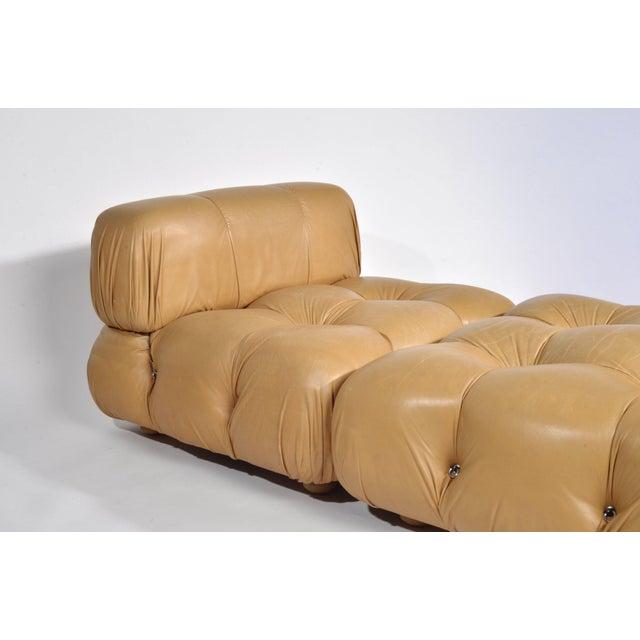 Mid-Century Modern Mario Bellini 'Camaleonda' Chair and Ottoman, 1970s For Sale - Image 3 of 12