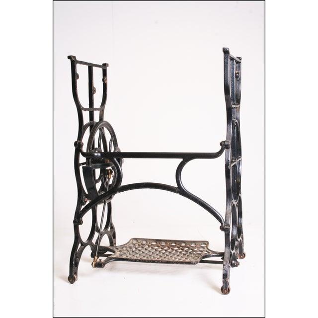 Vintage Industrial Black Iron Treadle Sewing Machine Base - Image 11 of 11