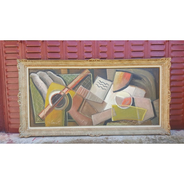 Paint Still Life With Guitar For Sale - Image 7 of 11