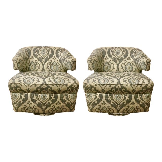 BSC Julie Swivel Chairs - A Pair - Image 1 of 7