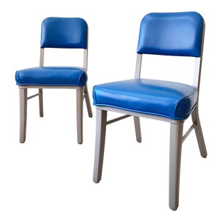 Mid Century Modern Blue Steelcase Model 233 Chairs - Sold Individually For Sale