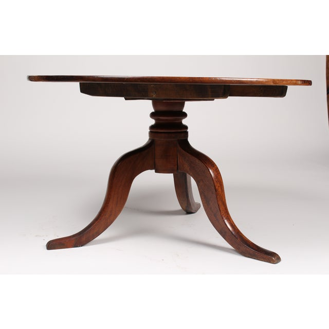 Romanian Walnut Round Side Table - Image 3 of 6