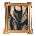Original Vintage Abstract Nude Charcoal Study
