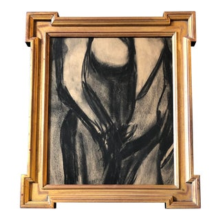 Original Vintage Abstract Nude Charcoal Study For Sale