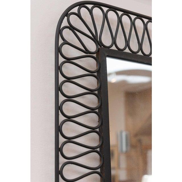 Decorative Black Iron Mirror For Sale - Image 4 of 7