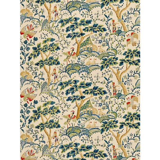 This early twentieth century hand block print was discovered in an English archive and has been reproduced using the...