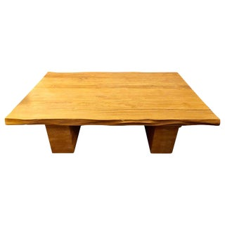 Ralph Lauren Large Country Wooden Coffee Cocktail Table For Sale